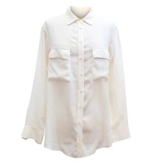 Equipment Cream Silk Blouse