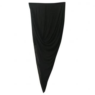 Helmut Lang Black Asymmetric Skirt