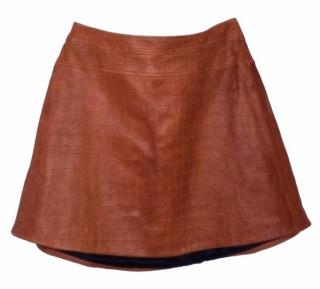Temperley London crocodile-embossed leather mini skirt