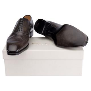 Santoni leather oxfords