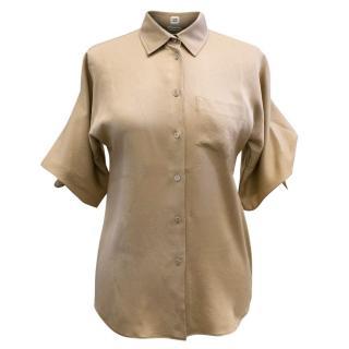 Hermes Silk Short Sleeve Blouse