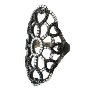 Zirgon crystals ring