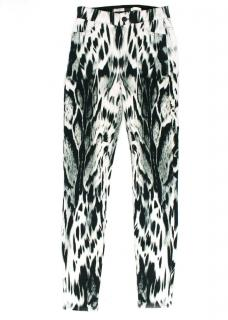 Giambattista Valli Black And White Leopard Print Trousers