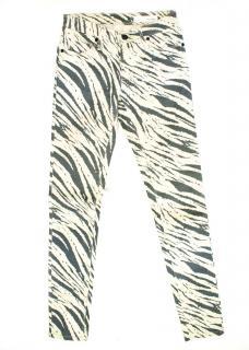 Sass And Bide Cream Zebra Print Jeans