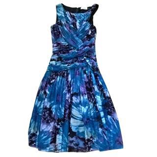 Calvin Klein fully lined blue summer dress