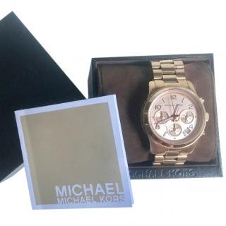 Michael Michael Kors Runway MK5128 Rose Gold Bracelet Watch