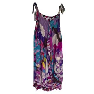 Diane Von Furstenburg silk print dress