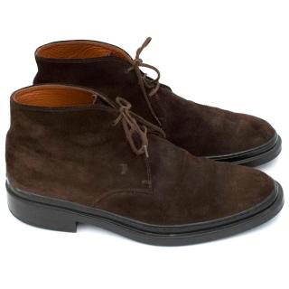 Tods Suede Brown Boots