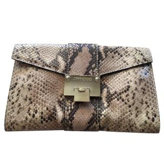 Jimmy Choo snake clutch