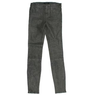 J Brand Grey Leather Jeans