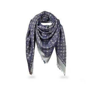 Louis Vuitton Blue Denim shawl scarf