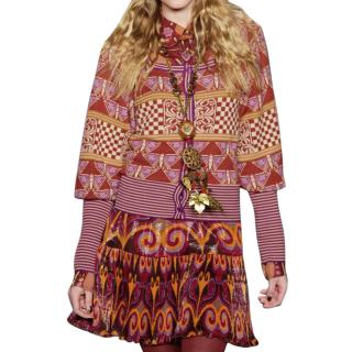 Anna Sui Multicoloured Wool Cardigan
