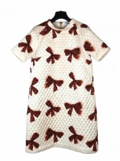 Alice by Temperley quilted mini rossi dress with bows, Exclusive print