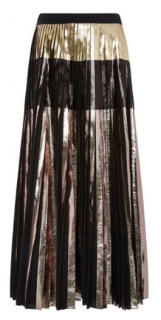 Proenza Schouler Multi Foil Printed Cloque Pleated Skirt