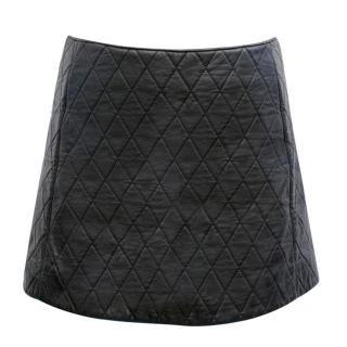 Neil Barrett Black Quilted Leather Miniskirt
