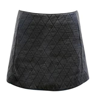 Neil Barrett Black Quilted Leather Miniskirt