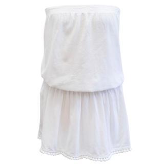 Heidi Klein White Drop Waist Strapless Dress
