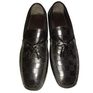 Louis Vuitton brown monnogram loafers