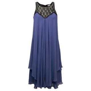 Temperley Blue Silk Dress