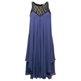 Temperley Blue Silk Dress