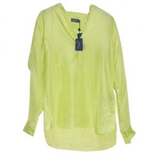 Ralph Lauren lime green silk blouse