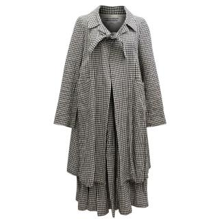 Comme des Gar�ons Check Skirt and Coat