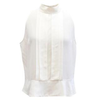 Miu Miu Cream Sleeveless Shirt