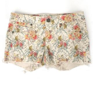 Paige Floral Denim Shorts