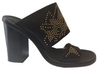 Chloe Susanna Slip-on Leather Sandals.