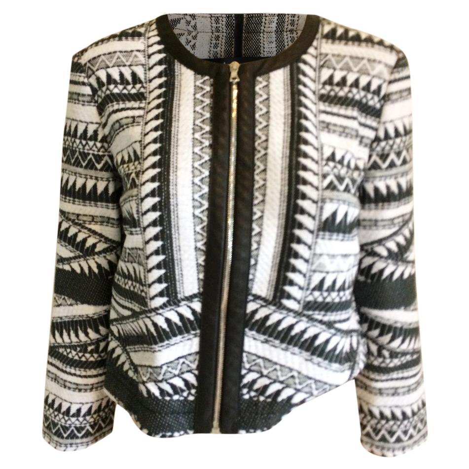 Yiga Azrouel NY Black and white jacket
