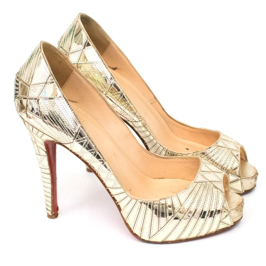 Christian Louboutin Gold Patent Leather