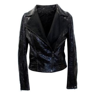 Elise Overland Black Snakeskin Jacket