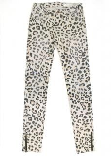 Sass & Bide Leopard Skinny Jeans