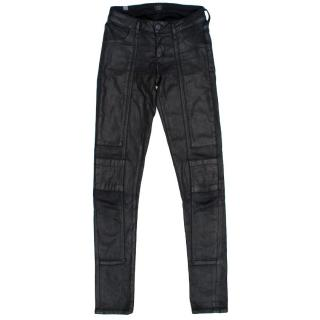 Citizens of Humanity Coated Black Skinny Jeans