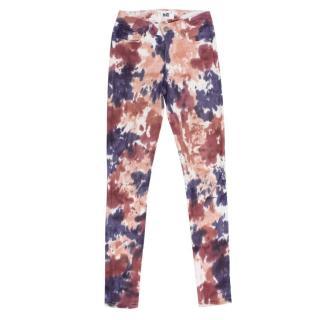 Paige Tie Dye Verdugo Ultra Skinny Jeans