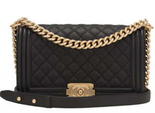 Chanel Boy Bag Old Medium Black