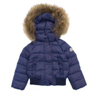 Moncler Boys Blue Puffer Jacket