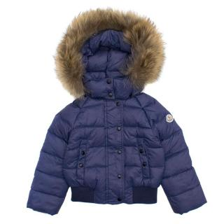 Moncler Boys Blue Puffer Jacket
