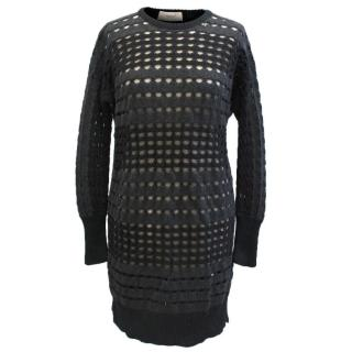 Pringle Black And Grey Wool Dress