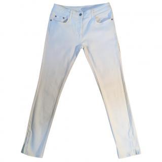 SANDRO Craie cream skinny stretchy ankle zip jean