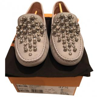 Tod's leather loafers with crystals