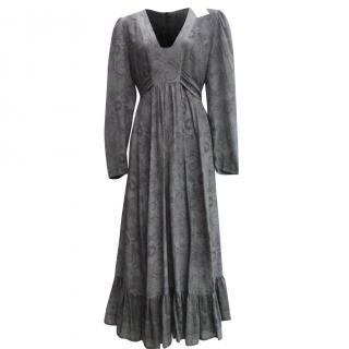Anonymous by Ross & Bute grey long silk dress