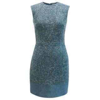 Richard Nicoll Blue Lurex Tweed Dress