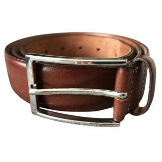 Hugo Boss Nivoly Tan Brown Belt