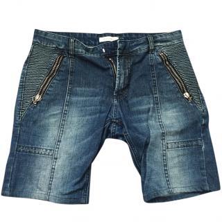 Pierre Balmain Mens Denim Shorts