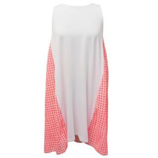 Manoush White and Neon Pink Dress