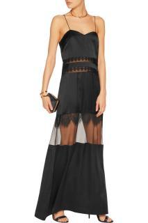 Self portrait black maxi dress