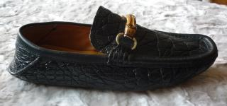 Gucci Mens Crocodile Horsebit Driving Shoes Loafers