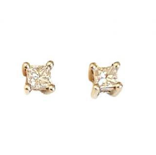 Princess Diamond Earrings 0.40ct 18ct Gold
