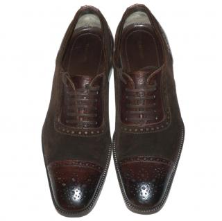 Tom Ford Cap-Toe Leather Oxford Broques , Brown
